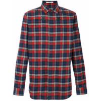 Givenchy Camisa Xadrez Com Estampa De Estrela - Vermelho