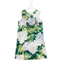 Dolce & Gabbana Kids Vestido Com Estampa 'ortensia' - Green