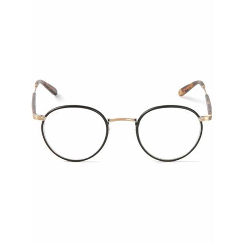Armação de óculos 'Wilson' preto, Garrett Leight. Possui armação redonda. Este item é acompanhado de uma capa protetora....