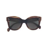 Céline Eyewear Óculos De Sol Oversized - Brown