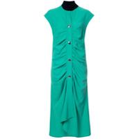 Marni Vestido Com Drapeado - Green