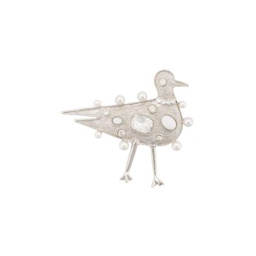 Imagem de Oscar de la Renta Broche 'Seagull' com aplicações - Metallic