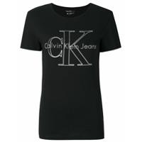Ck Jeans Camiseta Com Logo - Preto