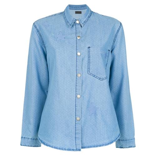 Imagem de A.Brand Camisa 'Stars' jeans - Azul