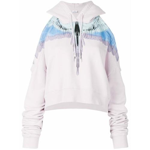 43390c3fde Blusa de moletom com capuz  Wings  rosa clara e azul em algodão