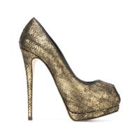 Giuseppe Zanotti Design Peep Toe Modelo 'sharon' - Metallic