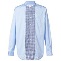 Comme Des Garçons Shirt Camisa Assimétrica - Azul