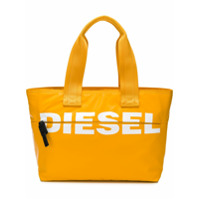 Diesel Bolsa Tote Com Logo - Orange