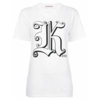 Christopher Kane Camiseta 'gothic K' - Branco