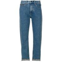 Ck Jeans Calça Jeans Cropped - Azul