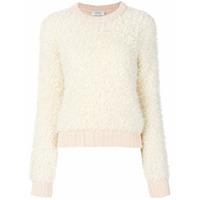 Carven Suéter Gola Arredondada - Branco