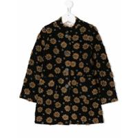Caffe' D'orzo Floral Single Breasted Coat - Preto