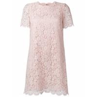 Dolce & Gabbana Vestido De Renda - Pink & Purple