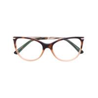 Bulgari Óculos De Grau Gatinho - Brown
