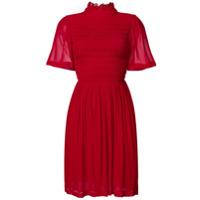 Alexa Chung Vestido Com Franzido - Vermelho
