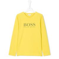Boss Kids Blusa Com Logo - Amarelo E Laranja