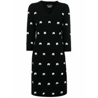 Boutique Moschino Vestido Com Aplicação De Laços - Preto