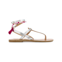 Ancient Greek Sandals Sandália De Couro 'estia' - Metallic