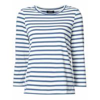 A.p.c. Camiseta Listrada Mangas Três Quartos - Azul