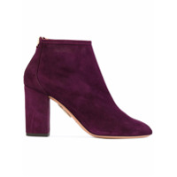 Aquazzura Ankle Boot De Camurça 'downtown' - Pink & Purple