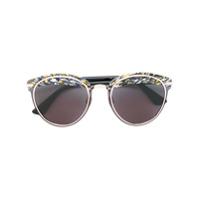 Dior Eyewear Óculos De Sol Estampado - Preto