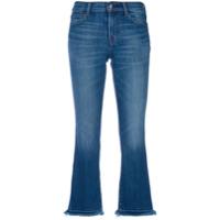 J Brand Calça Jeans Cropped Com Acabamento Desfiado - Azul