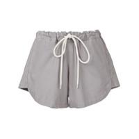 Bassike Shorts Com Cós Ajustável - Grey