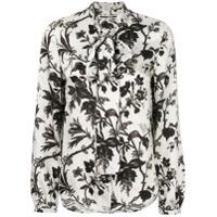 Mcq Alexander Mcqueen Camisa Com Estampa Floral - Grey