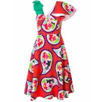 Delpozo Vestido Com Estampa Paisley - Vermelho
