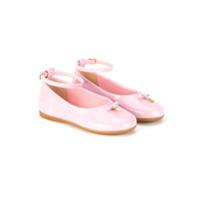 Dolce & Gabbana Kids Sapato Boneca De Couro - Pink & Purple