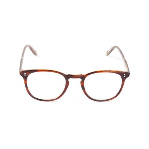 Óculos de grau 'Kinney' marrom em acetato, Garrett Leight. Possui armação retangular.