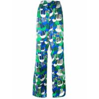 Dsquared2 Calça Pantalona Com Padronagem - Green