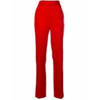 Calvin Klein 205W39Nyc Calça De Lã Com Aplicações Nas Laterais - Vermelho