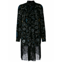 Anna Sui Robe With Fringed Hem - Preto