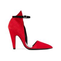 Calvin Klein 205W39Nyc Sapato De Couro E Camurça - Vermelho