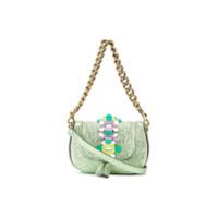 Anya Hindmarch Bolsa Tiracolo Mini 'vere' De Couro - Green