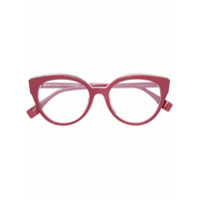 Fendi Eyewear Armação De Óculos Gatinho - Vermelho
