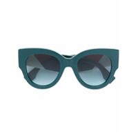 Fendi Eyewear Óculos De Sol Oversized - Green
