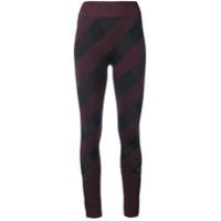 Adidas By Stella Mccartney Calça Legging Xadrez - Vermelho