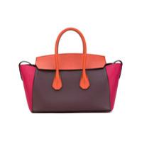 Bally Bolsa Tote Color Block - Brown
