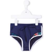 Duskii Girl Shorts Com Estampa Tropical - Azul