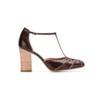 Sarah Chofakian Sapato De Couro Com Recortes - Brown