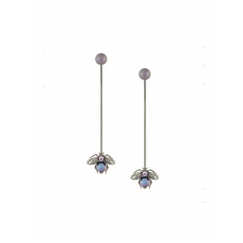 Imagem de Axenoff Jewellery Par de brincos com pingente - Preto
