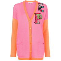 Emilio Pucci Cardigan Color Block Com Logo - Pink