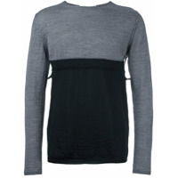 Comme Des Garçons Shirt Blusa De Moletom Color Block - Grey