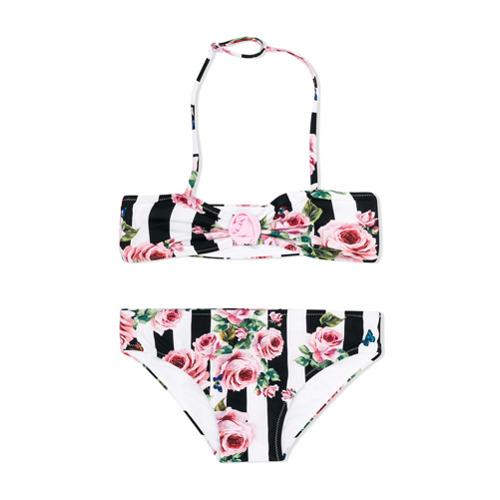 Imagem de Dolce & Gabbana Kids Biquíni 2 peças floral - Preto