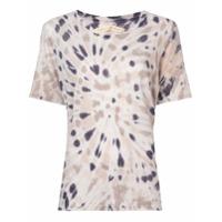 Raquel Allegra Camiseta Tie-Dye - Cinza