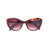 Alexander Mcqueen Eyewear Óculos De Sol Gatinho - Brown