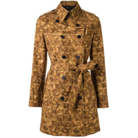 Andrea Marques Trench Coat Estampado - Brown