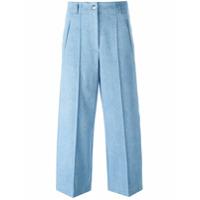 Barbara Bui Calça Pantacourt Jeans - Azul
